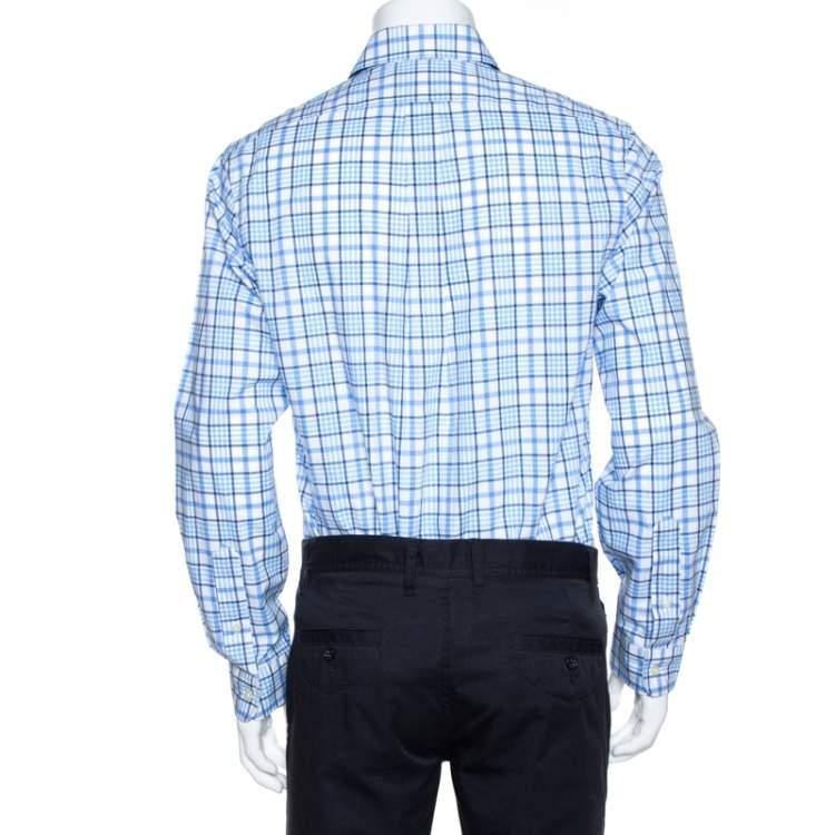قميص رالف لورين أزرار أمامية قطن كاروهات ثانية اللون M