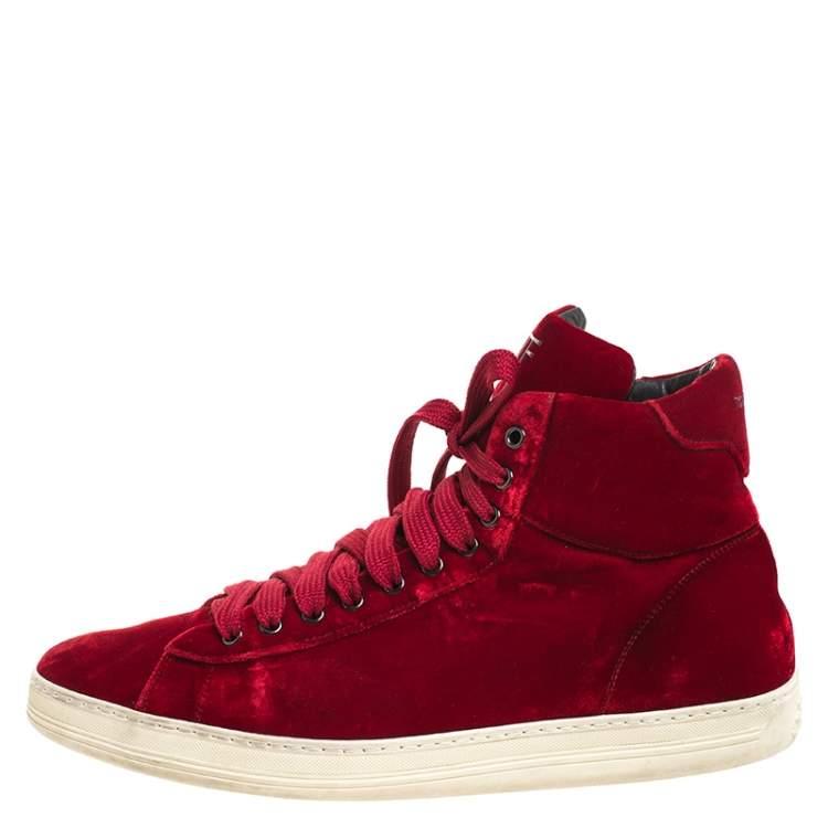 Tom Ford Red Velvet Russell High Top