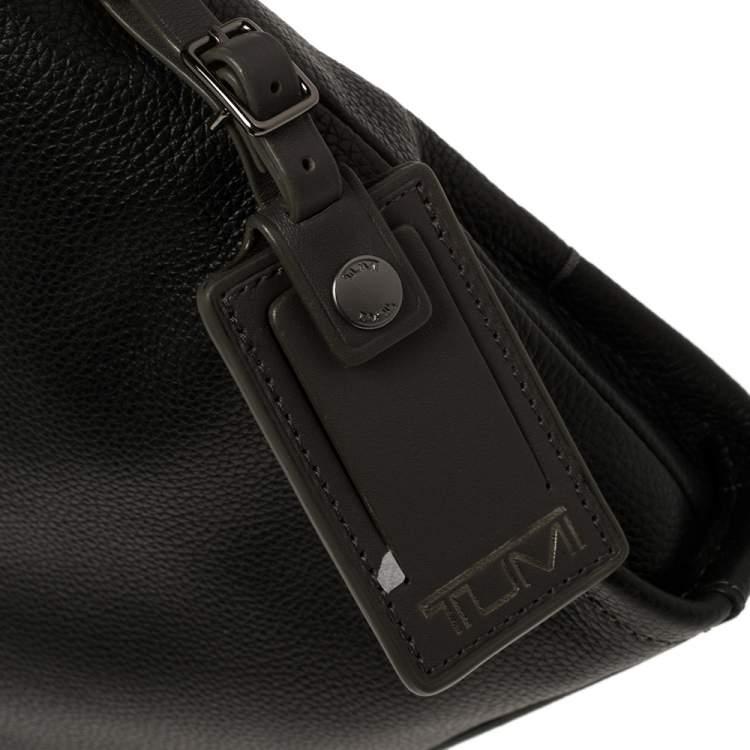 TUMI Black Leather Stratton Crossbody Bag