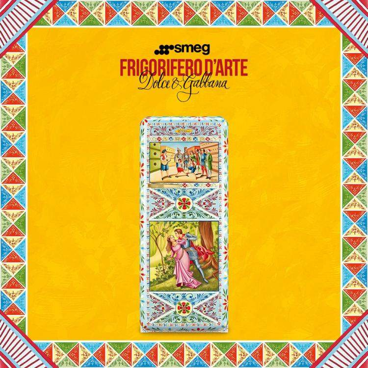 Refrigerator of Art Dolce & Gabbana and Smeg, Salvatore Sapienza SP09PB (Available for UAE Customers Only)