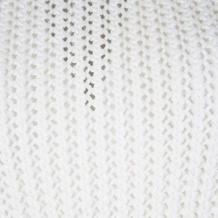 3.1 Phillip Lim White Chunky Knit Sleeveless Top S