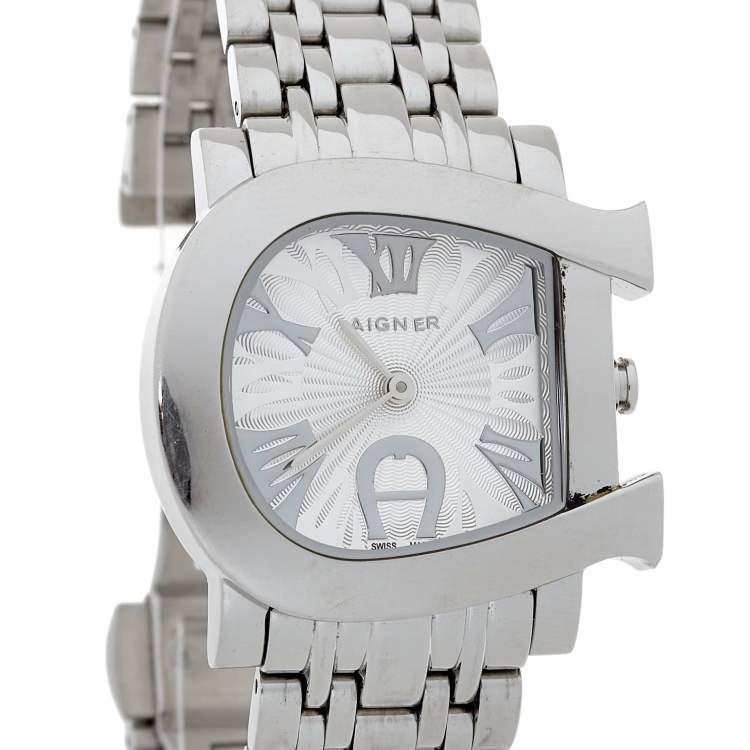 Aigner Silver Stainless Steel Genua Due A31600 Women's Wristwatch 31 mm