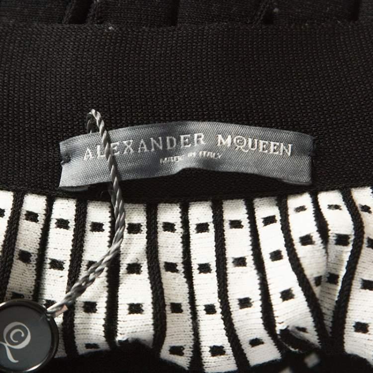 Alexander McQueen Black Wool Blend Pleated Skirt XS