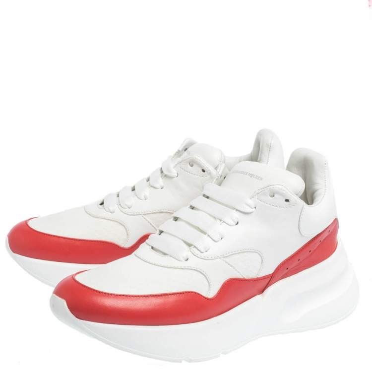 Alexander McQueen White/Red Leather And