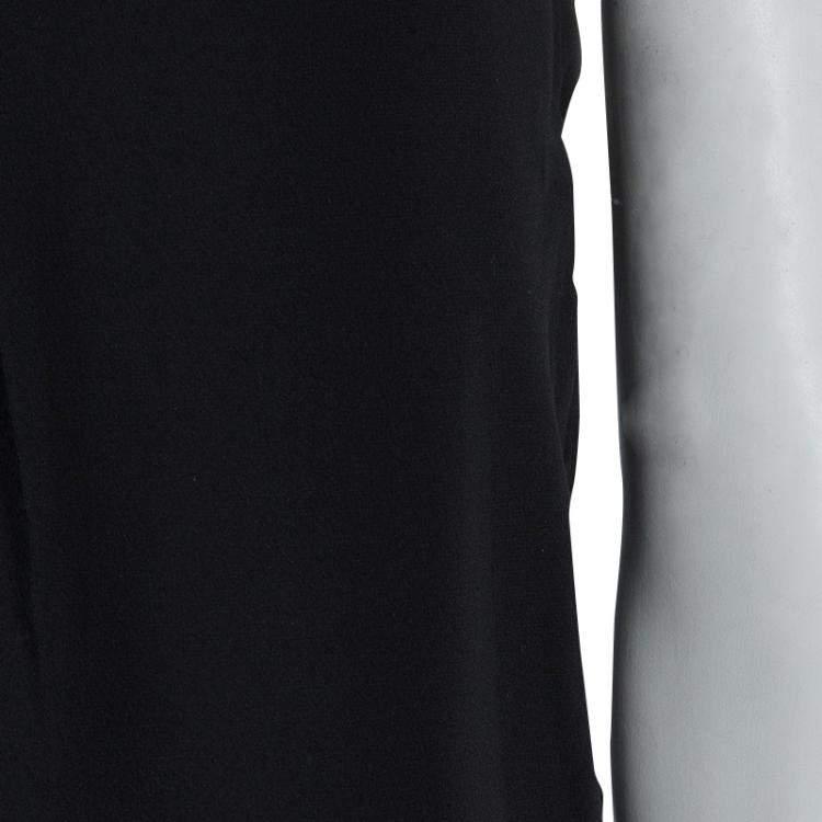 Alexander Wang Black Asymmetric Pleat Detail Sleeveless Top XS