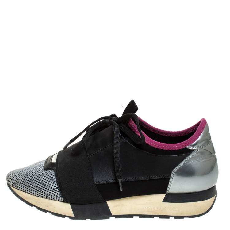 Nylon Race Runners Sneakers Size 38