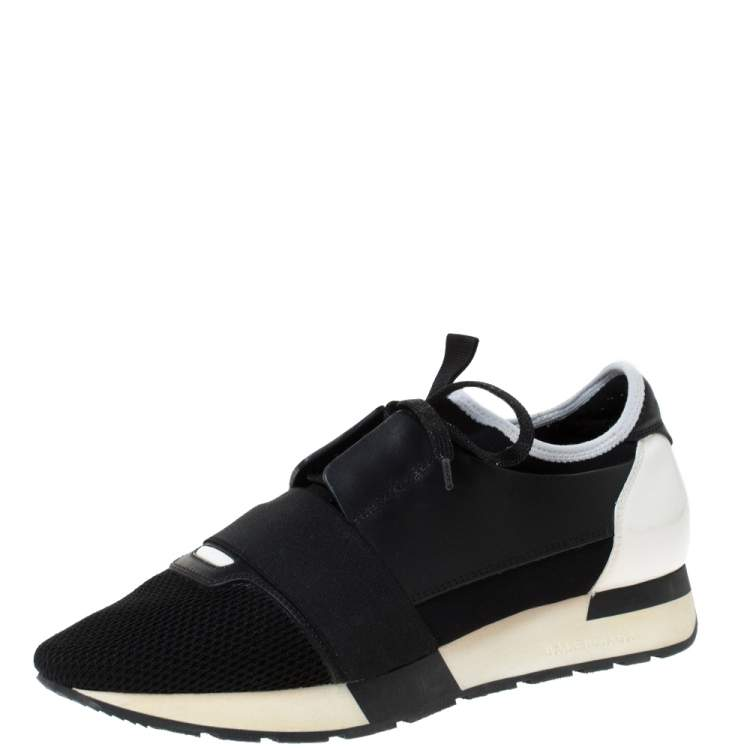 Leather Race Runner Sneakers Size