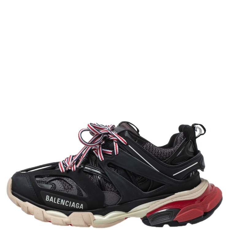 Balenciaga Multicolor Leather And Mesh Track Low Top Sneakers Size 36