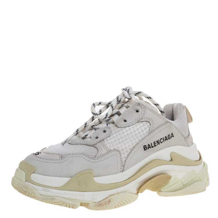 Mesh Triple S Trainer Sneakers Size 35