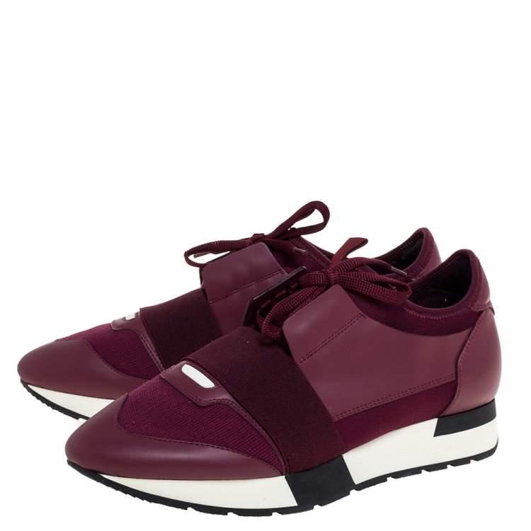 Mesh Race Runner Low Top Sneakers Size