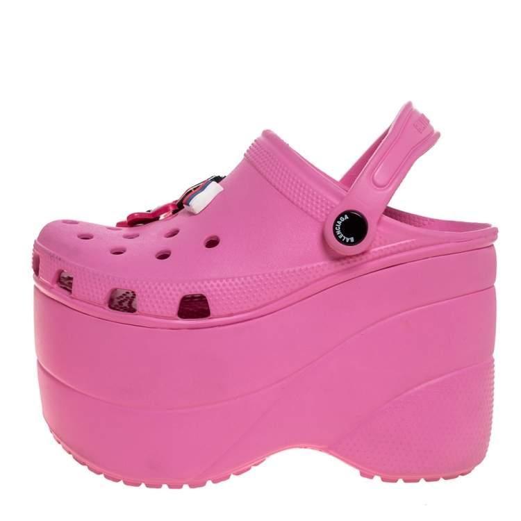 Balenciaga Pink Rubber Crocs