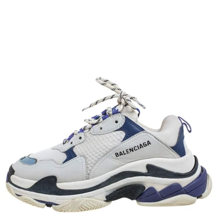 Mesh Triple S Clear Sneakers Size 38