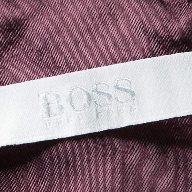 Boss by Hugo Boss Blush Pink Woven Jacquard Strapless Darona Dress M