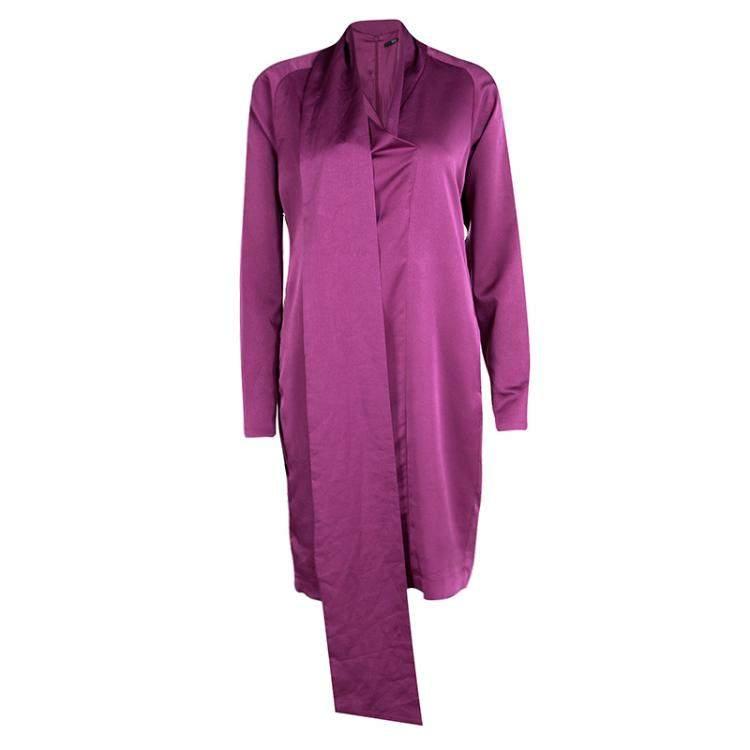 Boss By Hugo Boss Purple Long Sleeve Danami Dress S
