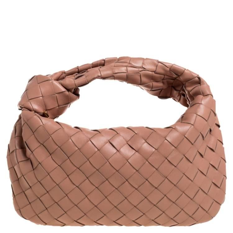 Bottega Veneta Beige Leather Mini BV Jodie Bag