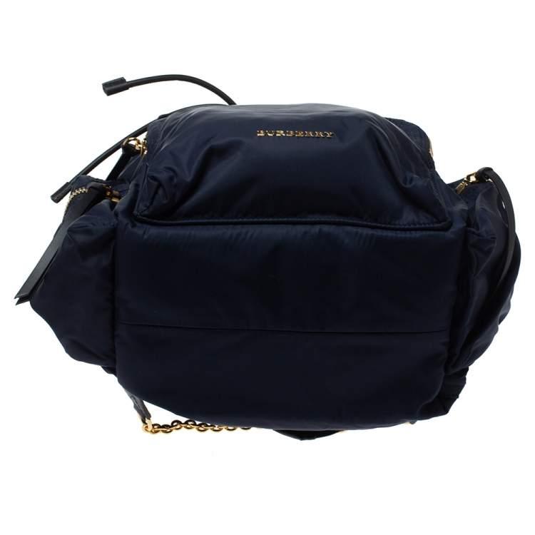 Burberry Navy Blue Nylon Rucksack Backpack