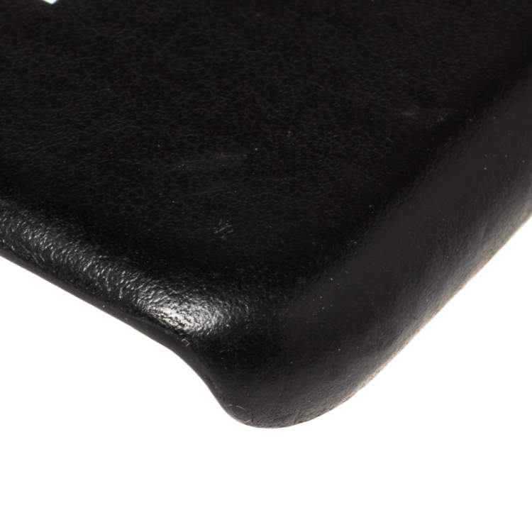 Burberry Black Leather Iphone X/XS Case