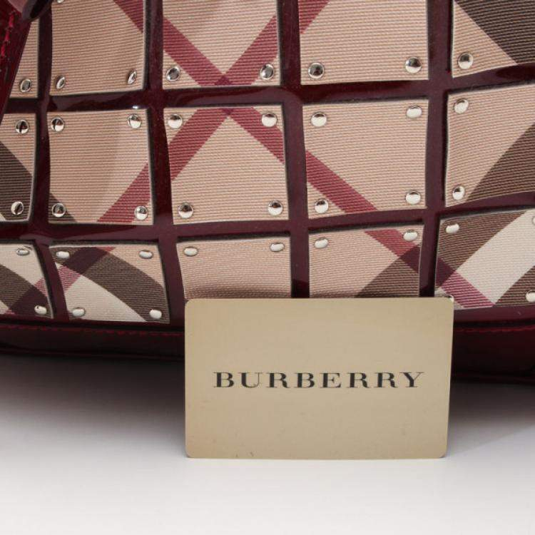 Burberry Nova Check and Black Leather Large Warrior Bag