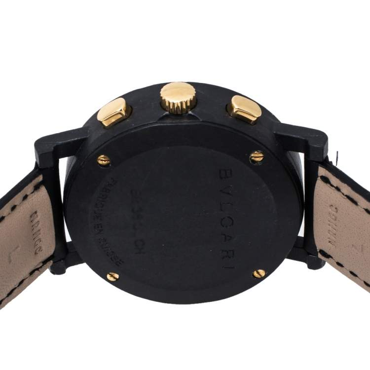 Bvlgari Black Carbongold Chronograph BB38CLCH Limited Edition Women's Wristwatch 38MM