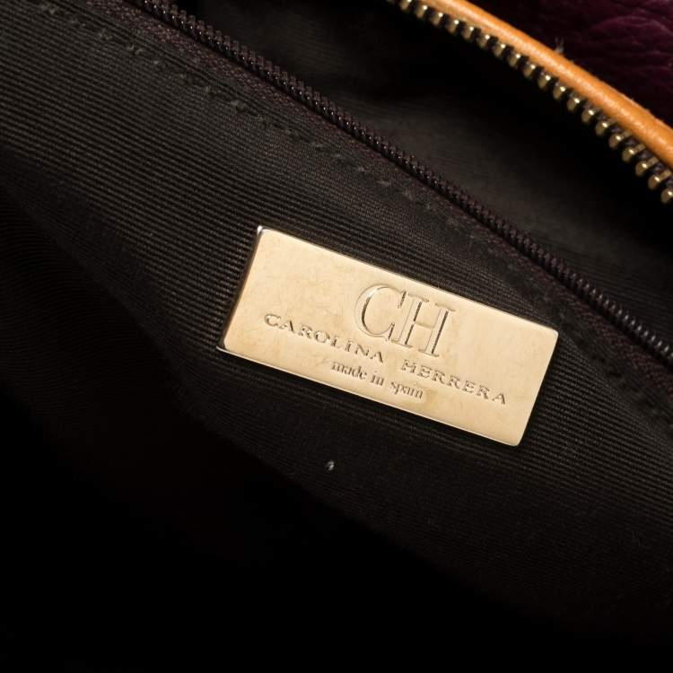 Carolina Herrera Multicolor Monogram Leather and Suede Tassel Hobo