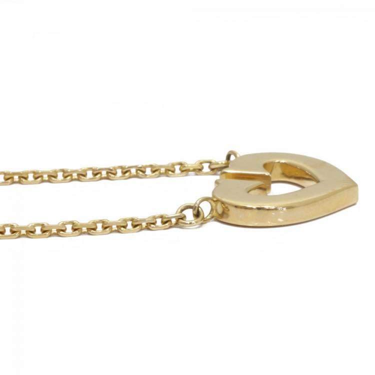 Cartier C de Cartier 18K Yellow Gold Pendant Necklace