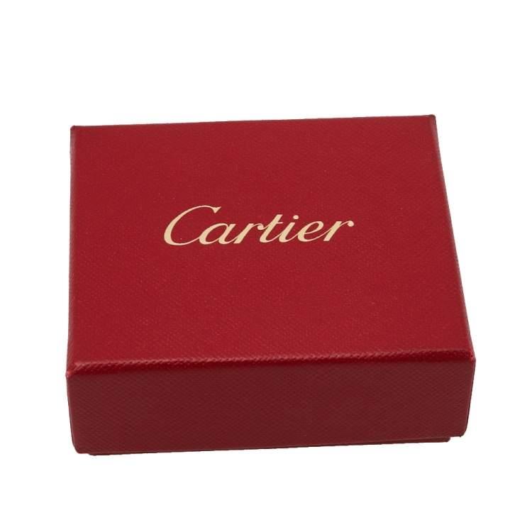 Cartier Love Pink Sapphire 18K Rose Gold Open Cuff Bracelet 17