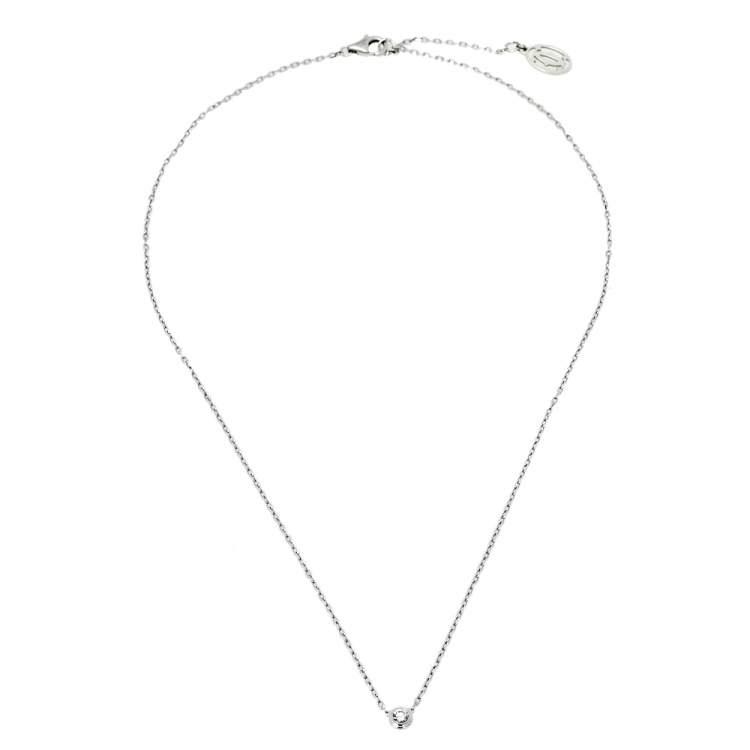 Cartier Diamants Legers Diamond 18K White Gold Necklace SM