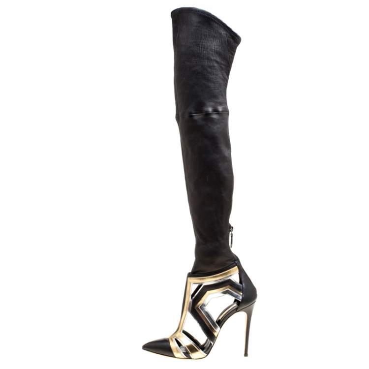 Casadei Multiclor Leather Cut Out Over