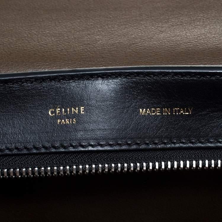 Celine Multicolor Python/Suede and Leather Medium Trapeze Top Handle Bag
