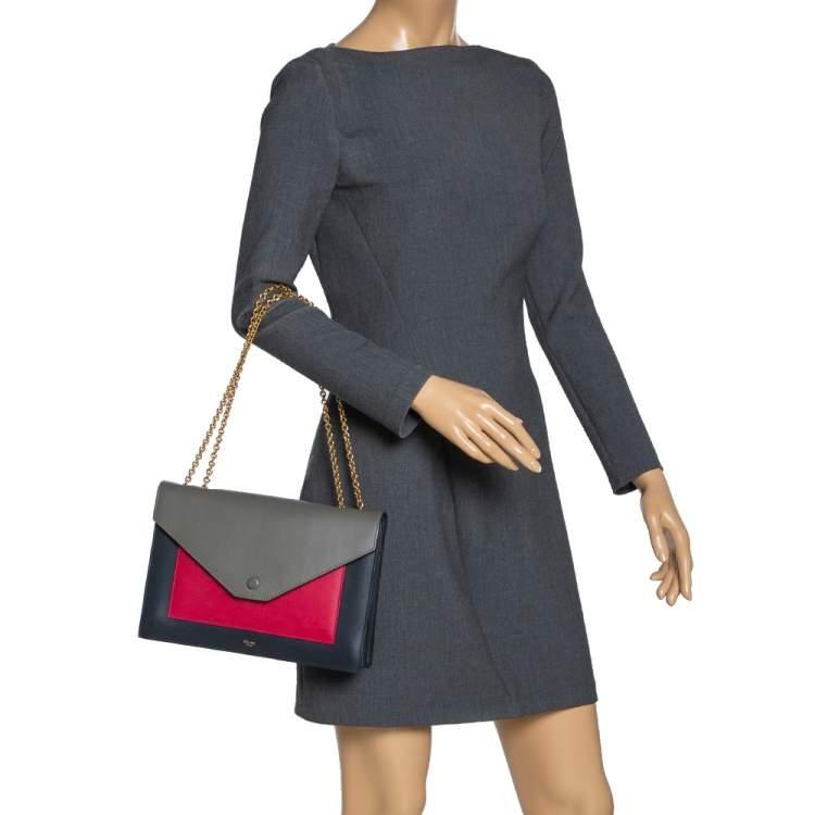 Céline Multicolor Leather Pocket Flap Shoulder Bag