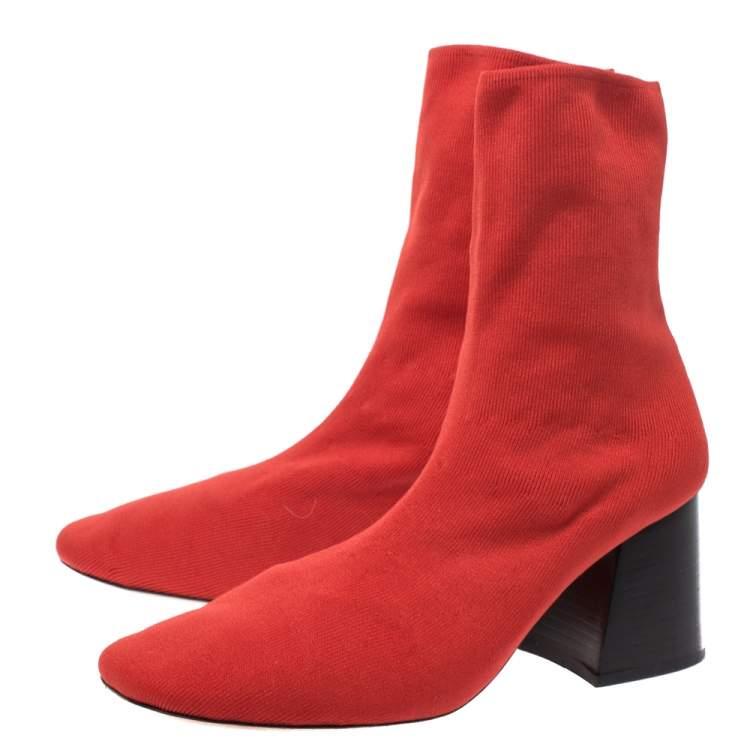 block heel ankle sock boots