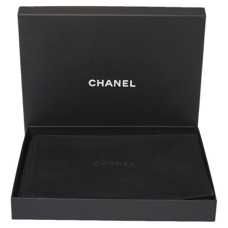 Chanel Pale Gold Tone Multi Chain Strand CC Crystal Station Necklace