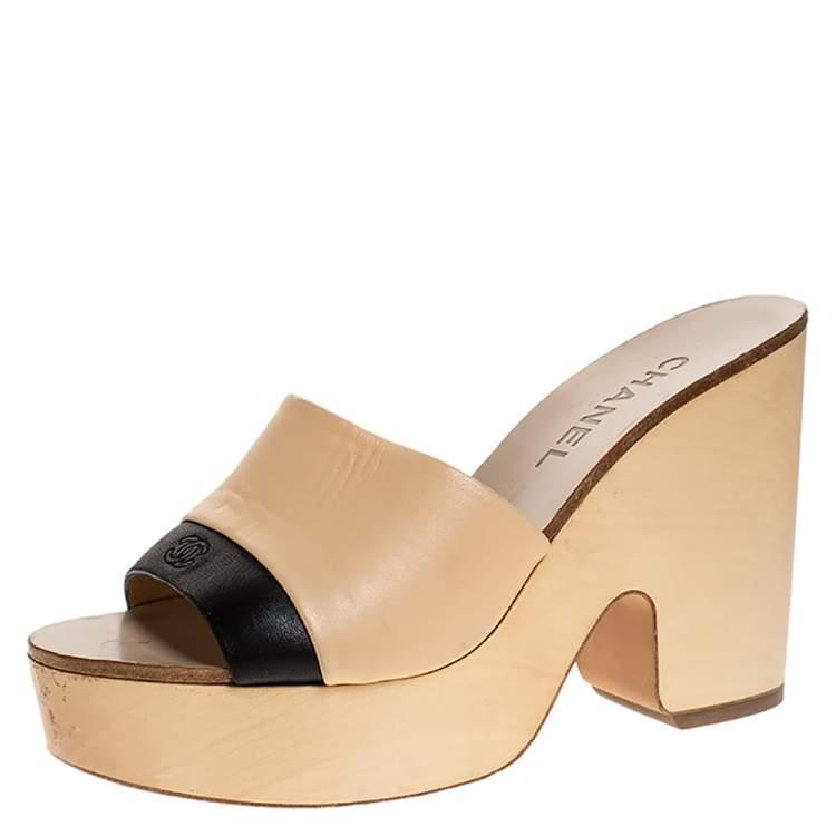 open toe wooden clogs