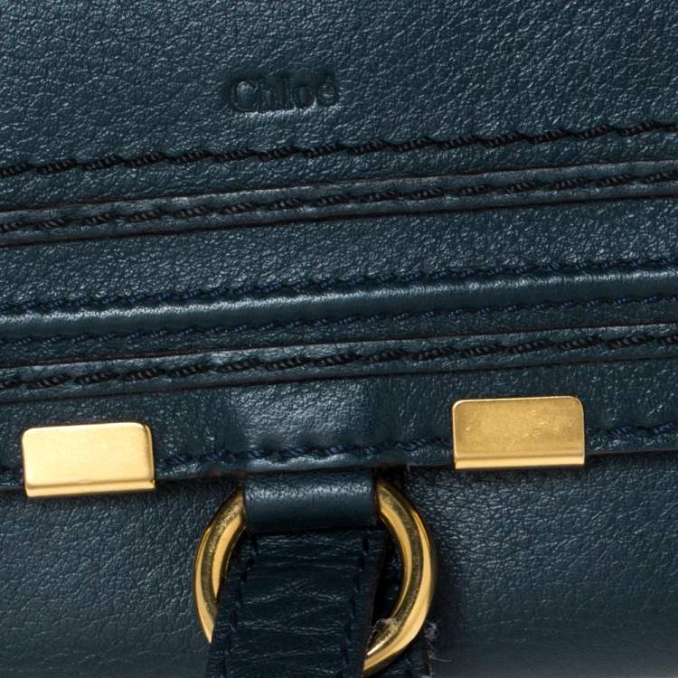 Chloe Blue Leather Marcie Continental Wallet