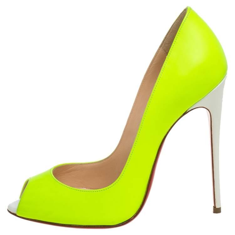 Christian Louboutin Neon Yellow/white