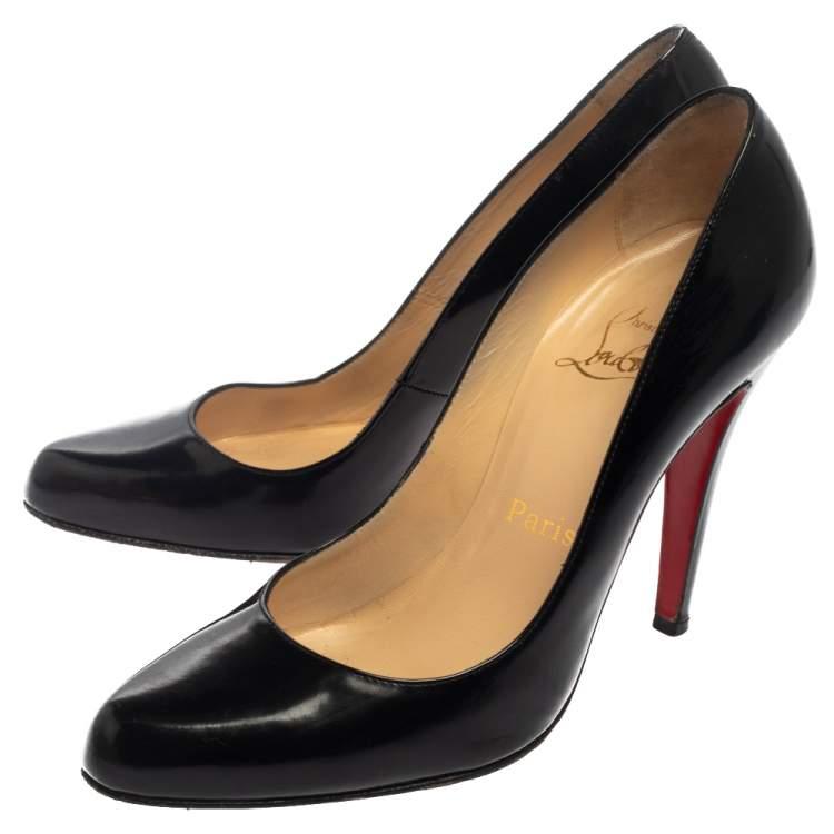 Christian Louboutin Black Leather Decollete 868 Pumps Size 36.5