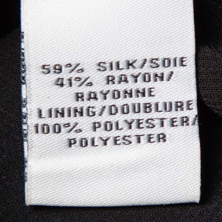 Diane von Furstenberg Navy Blue Star Pattern Fil Coupe Waist Tie Detail Top S
