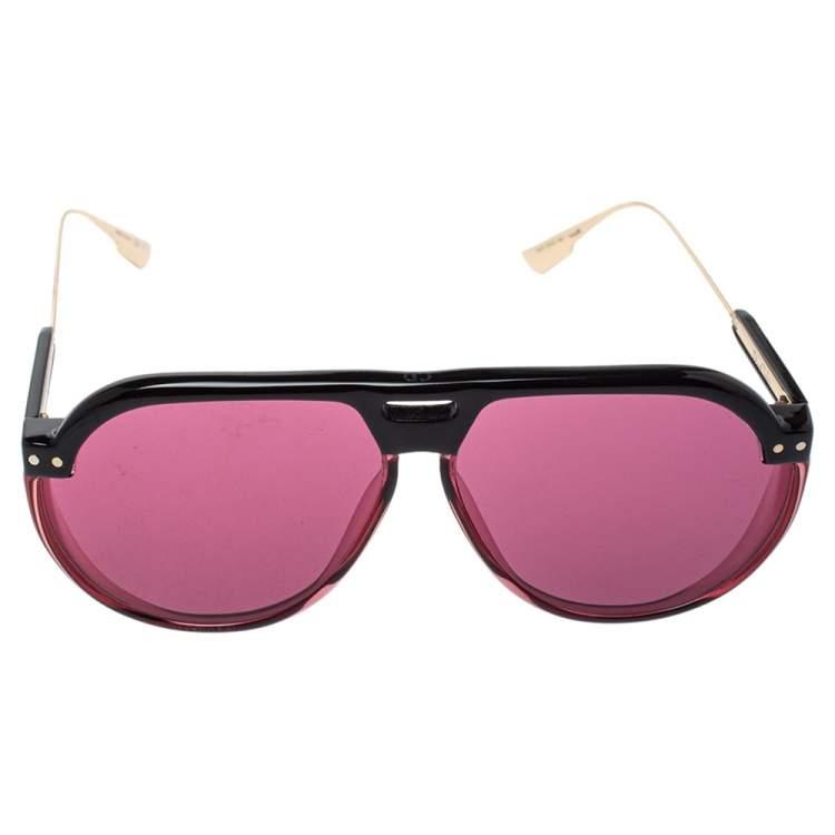 Dior Pink/Black DiorClub3 Aviator Sunglasses