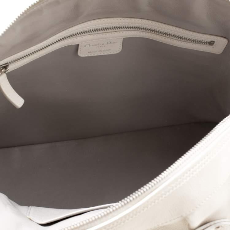 Dior White Leather My Dior Frame Satchel