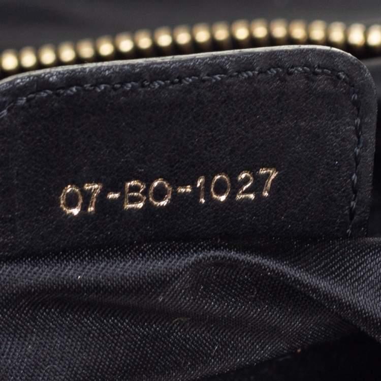 Dior Black Leather Large Gypsy Ruffle Hobo