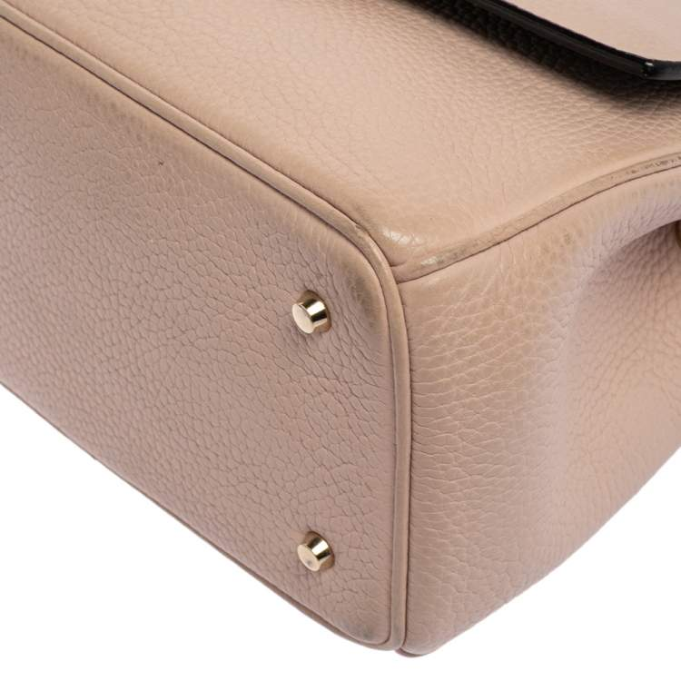 Dior Pink Leather Mini Be Dior Top Handle Bag