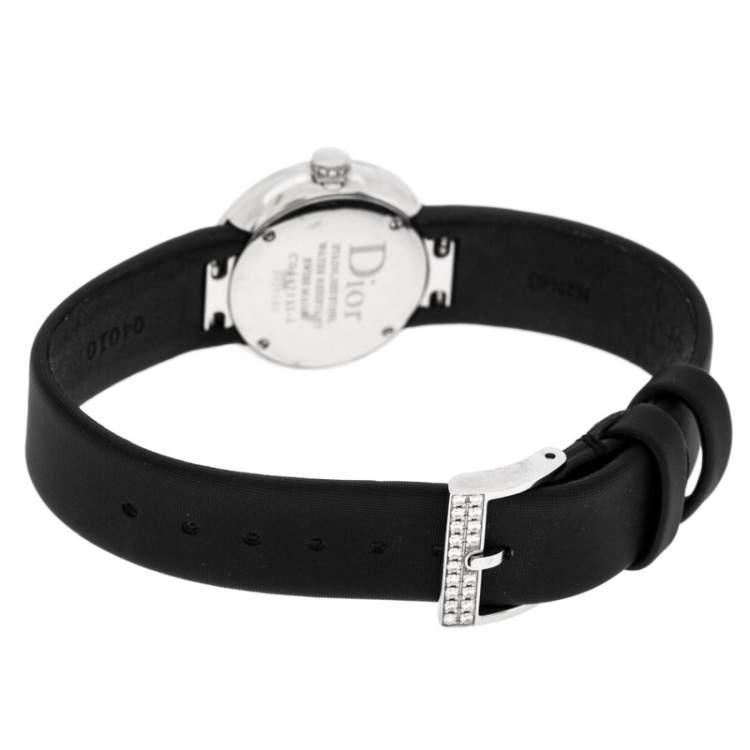 Dior Black Stainless Steel Diamond La D De Dior CD047111J-J Women Wristwatch 25 mm