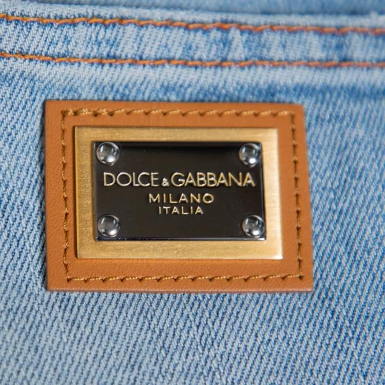 Dolce & Gabbana Light Blue Denim Tapered Leg Jeans S