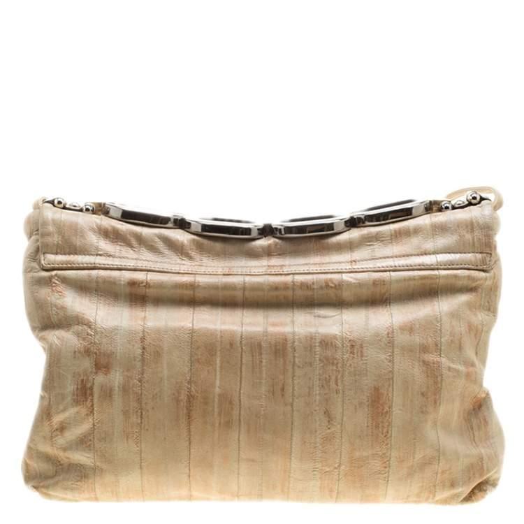 Dolce & Gabbana Beige Leather Miss Deco Shoulder Bag
