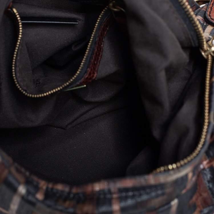 Fendi Multicolor Zucca Jacquard Fabric Chef Chain Link Hobo