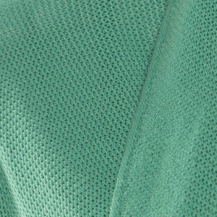 Giorgio Armani Mint Green Knit Open Front Cardigan and Top Set S