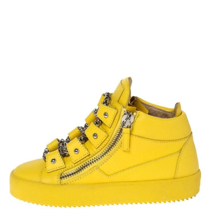 Giuseppe Zanotti Yellow Leather Gold