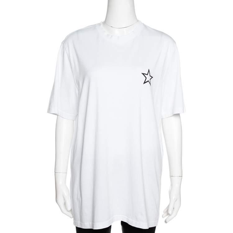 Givenchy White Cotton Star Print Crew Neck T Shirt M