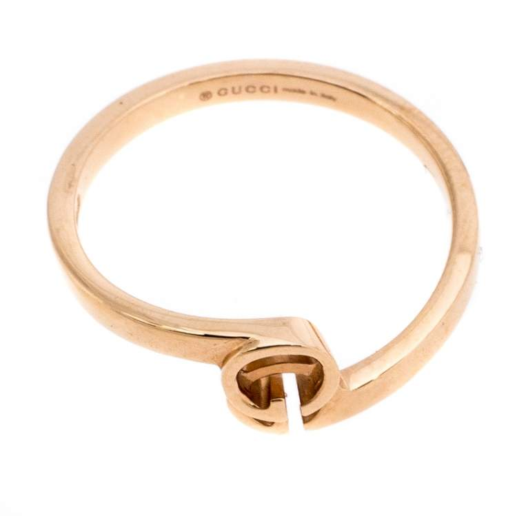 خاتم غوتشي رانينغ G ذهب وردي عيار 18 مقاس 50.5