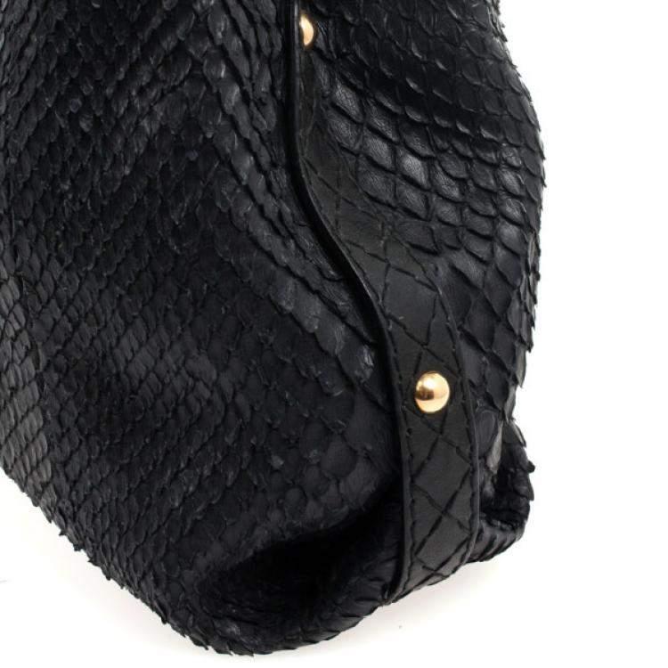 Gucci Limited Edition Large Jockey Python Hobo Bag